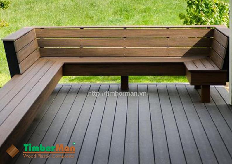 Sàn gỗ ngoài trời Timberman trang trí sân vườn