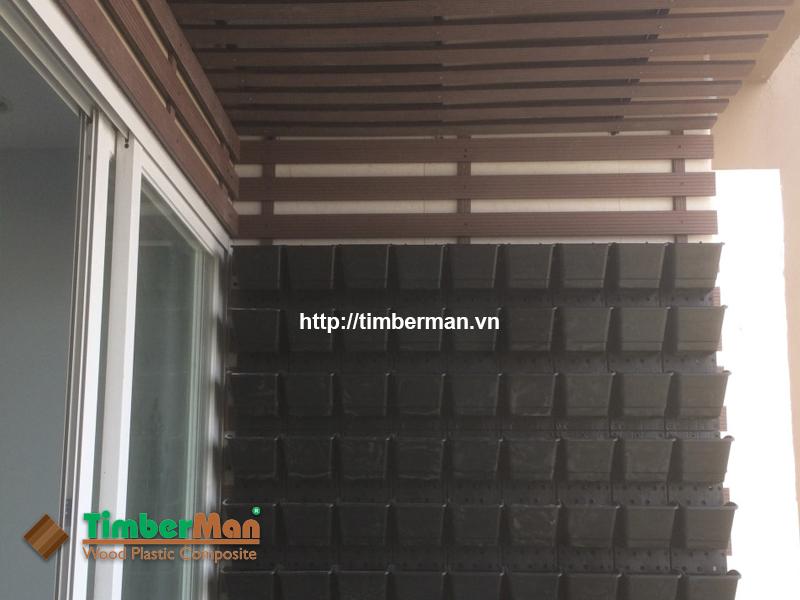 Thanh lam ốp trần ban công gỗ nhựa