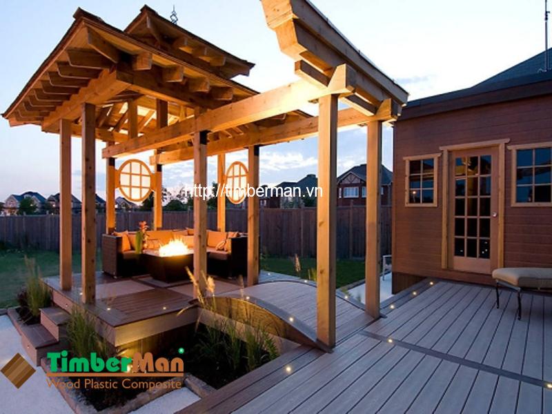 Sàn gỗ ngoài trời Timbermna mang lại vẻ đẹp lãng mạn cho không gian ngoại thất