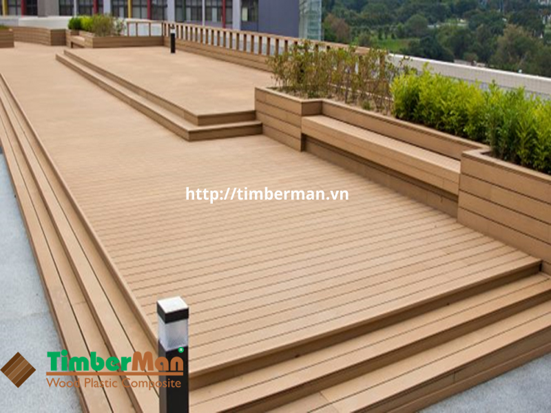 Sàn gỗ ngoài trời an toàn với sức khỏe người sử dụng