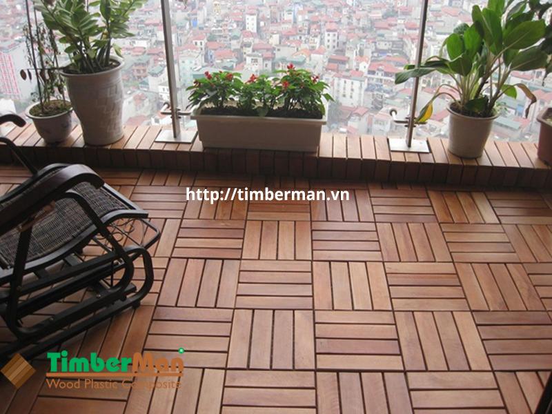Hình ảnh sàn gỗ ngoài trời lát ban công đẹp, hiện đại