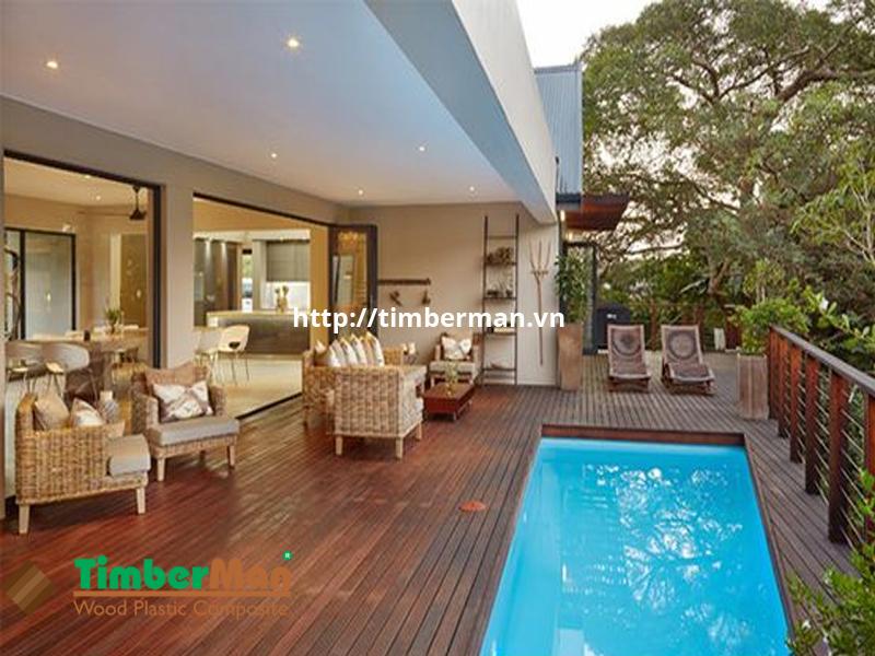 Sàn gỗ Timberman mang lại vể đẹp, sang chảnh cho không gian ngoại thất