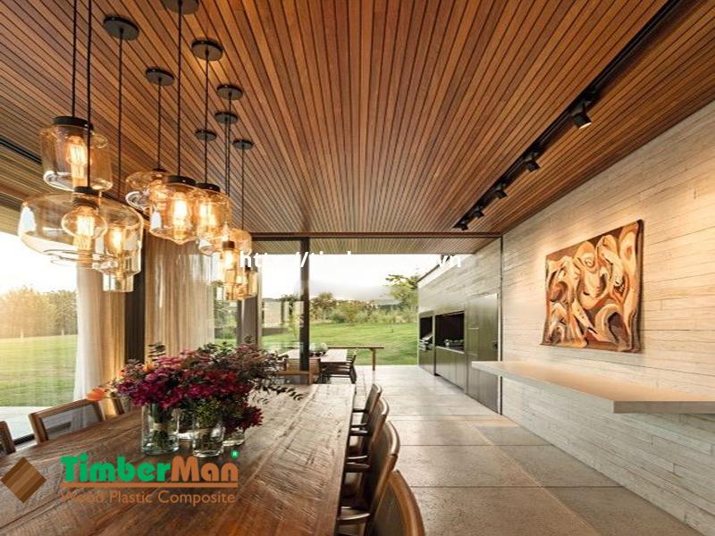 Không gian thoáng mát, đẹp hiện đại với vật liệu chính là gỗ công nghiệp