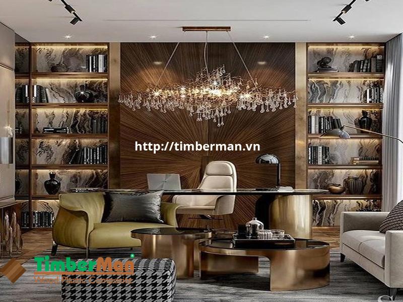 Tấm ốp tường vân gỗ với màu sắc chân thật như gỗ tự nhiên
