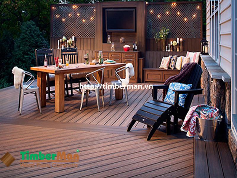Sàn gỗ ngoài trời Timberman góp phần tạo nên một không gian nghỉ dưỡng sang trọng, đẳng cấp