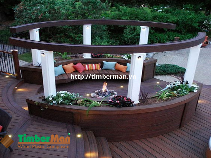 Sàn gỗ ngoài trời mang lại vẻ đep hiện đại sang trong cho không gian ngoại thất