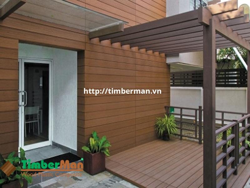 Ốp tường ngoài trời giúp bảo vệ ngôi nhà từ bên ngoài mang lại tuổi thọ cao cho công trình lắp đặt