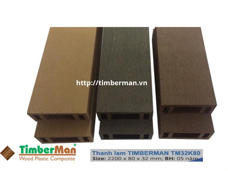 Thanh lam TimberMan, kích thước 32x80x2200mm