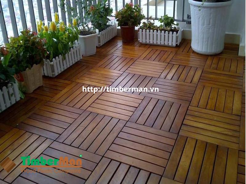 Vỉ gạch gỗ nhựa có màu sắc đa dạng phù hợp với nhiều không gian ngoại thất