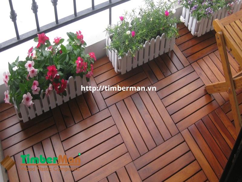 Vỉ gạch gỗ nhựa góp phần làm tăng giá trị không gian ngoại thất